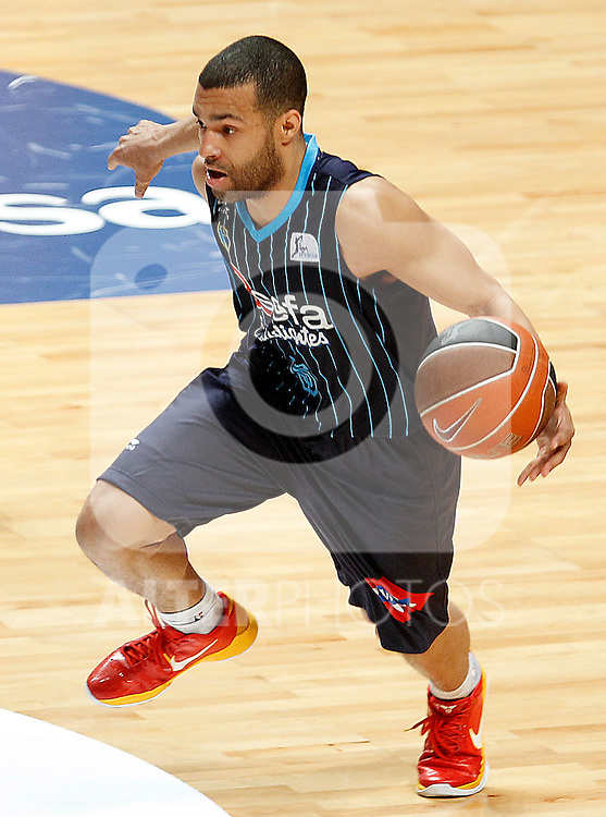 Asefa Estudiantes' Chris Lofton during Liga Endesa ACB match.April 15,2012. (ALTERPHOTOS/Acero)