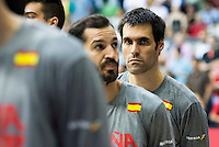 Spain's basketball player Fernando San Emeterio during the first match of the preparation for the Rio Olympic Game at Coliseum Burgos. July 12, 2016. (ALTERPHOTOS/BorjaB.Hojas)