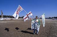 Spessa Po, 1996, festa della lega sul fiume PO
