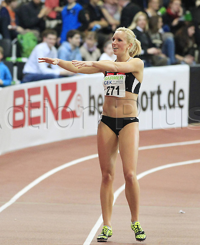 25 02 2012 Karlsruhe Germany Athletics Track and Field DLV German indoor Championships 2012 Karlsruhe Cindy Roleder LAZ Leipzig 60m Hurdles Women