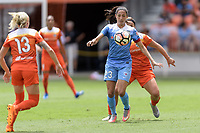Houston, TX - The Houston Dash defeated the Chicago Red Stars 2-0 on Saturday April 15, 2017: Christen Press, Amber Brooks during a regular season National Women's Soccer League (NWSL) match at BBVA Compass Stadium.