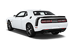 Car pictures of rear three quarter view of 2016 Dodge Challenger Scat-Pack 2 Door Coupe Angular Rear