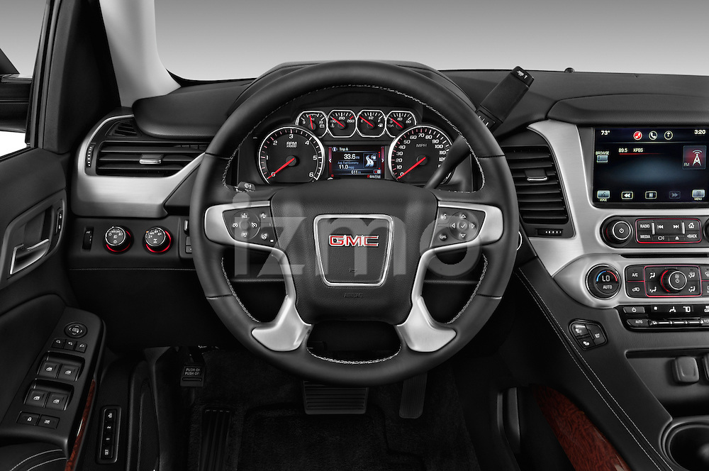 Car pictures of steering wheel view of a 2015 GMC Yukon Xl Sle 5 Door Suv 2WD Steering Wheel