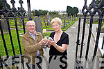 Fr Patsy Lynch with Cllr. Mairead Fernane are disgusted that St John's Graveyard on Brewery Road has had the lock and chain broken for a third time in six months.