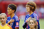 (L-R) Saori Ariyoshi, Mizuho Sakaguchi (JPN), JUNE 23, 2015 - Football / Soccer : <br /> FIFA Women's World Cup Canada 2015 round 16 match Japan 2-1 Netherlands at BC Place, Vancouver, Canada. (Photo by Yusuke Nakanishi/AFLO SPORT)