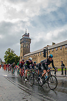 Picture by Alex Whitehead/SWpix.com - 10/09/2017 - Cycling - OVO Energy Tour of Britain - Stage 8, Worcester to Cardiff - Geraint Thomas of Team Sky ride past the grounds of Cardiff Castle.