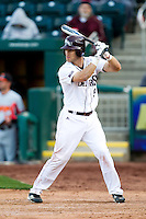 Spiker Helms (9) of the Missouri State Bears at bat during a game against the Oklahoma State Cowboys at Hammons Field on March 6, 2012 in Springfield, Missouri. (David Welker / Four Seam Images)