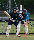 Cricket Scotland - Scotland training at Ayr CC ahead of this week's 4 day Intercontinental Cup match against Namibia - the match begins tomorrow (Tuesday) with an 11am start on each day - Richie Berrington and Matty Cross in the nets - picture by Donald MacLeod - 05.06.2017 - 07702 319 738 - clanmacleod@btinternet.com - www.donald-macleod.com