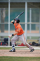 Baltimore Orioles Ben Breazeale (23) during a Minor League Spring Training game against the Boston Red Sox on March 20, 2018 at Buck O'Neil Complex in Sarasota, Florida.  (Mike Janes/Four Seam Images)
