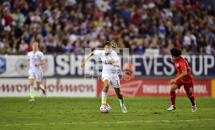 Tampa Bay, FL. - March 3, 2016: The USWNT take on England in the 2016 SheBelieves Cup  at Raymond James Stadium.