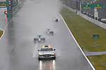 Safety Car leads the field into turn one followed by the MercedesGP drivers Rosberg and Hamilton <br /> SUZUKA, JAPAN, 05.10.2014, Formula One F1 race, JAPAN Grand Prix, Grosser Preis, GP du Japon, Motorsport, Photo by: Sho TAMURA/AFLO SPORT  GERMANY OUT