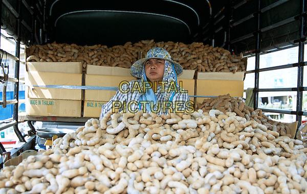 Man selling food from truck, Lopburi, Saraburi Province, Thailand