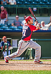 12 March 2014: Washington Nationals outfielder Steven Souza in action during a Spring Training game against the Houston Astros at Osceola County Stadium in Kissimmee, Florida. The Astros rallied in the bottom of the 9th to edge out the Nationals 10-9 in Grapefruit League play. Mandatory Credit: Ed Wolfstein Photo *** RAW (NEF) Image File Available ***
