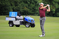 Sebastian Heisele (GER) in action during the first round of the Shot Clock Masters, played at Diamond Country Club, Atzenbrugg, Vienna, Austria. 07/06/2018<br /> Picture: Golffile | Phil Inglis<br /> <br /> All photo usage must carry mandatory copyright credit (&copy; Golffile | Phil Inglis)