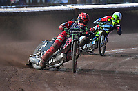 Heat 8 Kacper Woryna of Poole Pirates during Poole Pirates vs Belle Vue Aces, Elite League Speedway at The Stadium on 11th April 2018