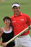 Lee Westwood and his wife, Laurie, after winning of the Dubai World Championship Golf and Order of Merit in Jumeirah, Earth Course, Golf Estates, Dubai  UAE, 22nd November 2009 (Photo by Eoin Clarke/GOLFFILE)