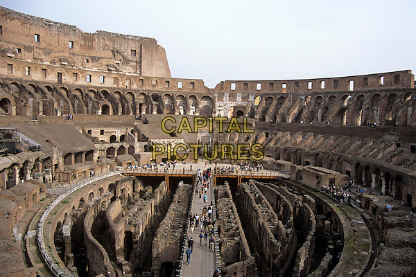 The Colosseum, Rome, Italy, internal view