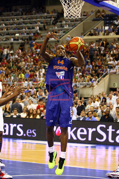 Serge Ibaka. Preparatory Olympics Games London 2012. Spain vs USA: 78-100.