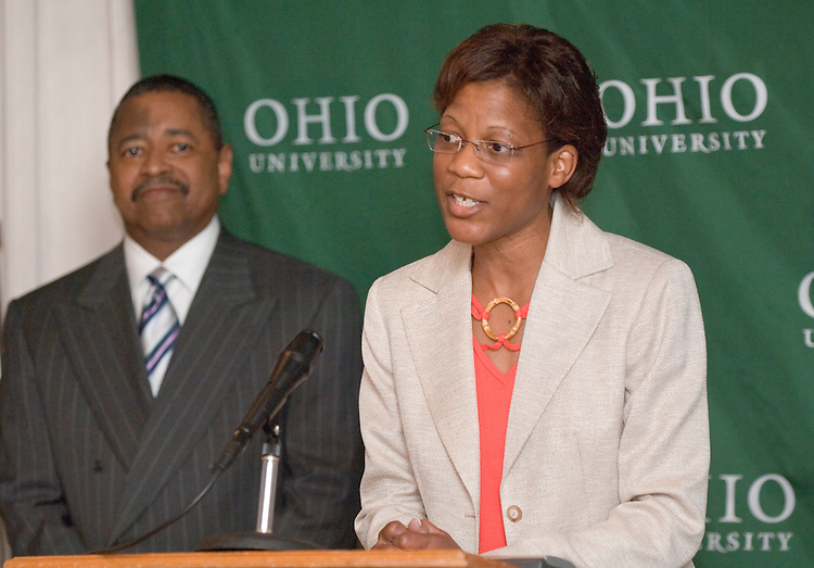 5/18/06..Contact: Director of Media Relations Jack Jeffery at 740-597-1793 or jefferyj@ohio.edu, or Media Relations Coordinator Jessica Stark at 740-597-2938 or starkj@ohio.edu..OHIO UNIVERSITY NAMES RENÉE A. MIDDLETON.DEAN OF COLLEGE OF EDUCATION..ATHENS, Ohio ? Renée A. Middleton, Ph.D., has been named dean of the College of Education at Ohio University, effective Aug. 14, 2006, President Roderick J. McDavis announced today. ..Middleton is currently director of research, human resource development and outreach at Auburn University (Ala.), a position she has held since 1994. Middleton is a tenured professor in the department of Counselor Education, Counseling Psychology and School Psychology in the College of Education at Auburn University. ..As dean, she will oversee the college's three departments: Counseling and Higher Education, Educational Studies, and Teacher Education. ..?Dr. Middleton is the ideal person to serve as dean of Ohio University's College of Education because of her proven abilities as a strong academic leader,? McDavis said. ?In her current role at Auburn University, she has ensured continued support for important initiatives, including research and diversity. I know that her professional and personal strengths will be an asset to the College of Education, which has created a strong foundation for the educators of tomorrow.?..As dean, Middleton will also be responsible for the college's several centers and partnerships, including the Upward Bound program, which prepares underprivileged high school students for college study, and the Appalachian Collaborative Center for Learning, Assessment and Instruction in Mathematics. She succeeds James Heap, who accepted a position at Brock University in Ontario, Canada...?We had a strong pool of candidates for this position, but Renée stood out as someone who has done a remarkable job of focusing on the goals of a college and establishing structures that enable people to arrive at those goals,? Provost Kat
