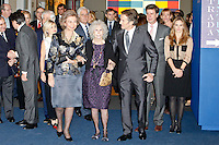 Cayetana Martinez de Irujo, Queen Sofia of Spain, Duchess of Alba, Cayetana Fitz-James Stuart, husband Alfonso Diez Cayetano Martinez de Irujo and Genoveva Casanova attend 'El Legado Casa de Alba' Art exhibition at the Palacio de Cibeles . December 18, 2012. (ALTERPHOTOS/Caro Marin) /NortePHOTO