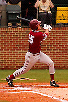 NASHVILLE, TENNESSEE-Feb. 27, 2011:  Stephen Piscotty of Stanford eyes his first home run of the season clearing the fence during the game at Vanderbilt.  Stanford defeated Vanderbilt 5-2.