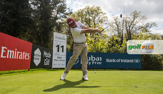Andy Sullivan (ENG) from the 11th tee during Monday's practice round ahead of the 2016 Dubai Duty Free Irish Open Hosted by The Rory Foundation which is played at the K Club Golf Resort, Straffan, Co. Kildare, Ireland. 16/05/2016. Picture Golffile | David Lloyd.<br /> <br /> All photo usage must display a mandatory copyright credit as: &copy; Golffile | David Lloyd.