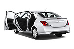 Car images close up view of a 2015 Nissan Versa 1.6 Sv Cvt 4 Door Sedan doors
