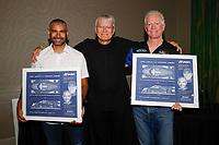 Artist/official Jim Swintal with Bronze champions #70 P1 Motorsports Ligier JS P3, LMP3: Joel Janco, Jonatan Jorge