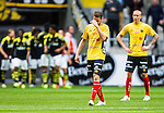 Solna 2015-07-26 Fotboll Allsvenskan AIK - IF Elfsborg :  <br /> Elfsborgs Henning Hauger deppar efter 1-0 av AIK:s Henok Goitom under matchen mellan AIK och IF Elfsborg <br /> (Foto: Kenta J&ouml;nsson) Nyckelord:  AIK Gnaget Friends Arena Allsvenskan Elfsborg IFE depp besviken besvikelse sorg ledsen deppig nedst&auml;md uppgiven sad disappointment disappointed dejected