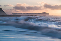 Sunrise at Vik Beach, South Region (Sudurland), Iceland