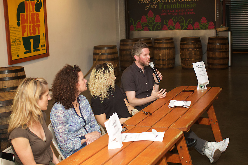 Brooklyn, NY - June 1, 2016: Editors from Edible Brooklyn, Manhattan, Long Island and East End talk about the process of creating their magazines at How to Make and Edible at the Brooklyn Brewery.<br /> <br /> <br /> CREDIT: Clay Williams for Edible Brooklyn.<br /> <br /> &copy; Clay Williams / claywilliamsphoto.com