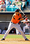 5 March 2006: Nick Markakis, outfielder for the Baltimore Orioles, at bat during a Spring Training game against the Washington Nationals. The Nationals defeated the Orioles 10-6 at Space Coast Stadium, in Viera Florida...Mandatory Photo Credit: Ed Wolfstein..