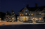 Christmas Trees Inn on Christmas Eve in the village of Marlow, New Hampshire