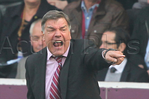 24.03.2012, Burnley England. Burnley v West Ham. Sam Allardyce furious during the NPower Championship game played at Turf Moor.