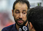 June 4th 2017, Estadi Montilivi,  Girona, Catalonia, Spain; Spanish Segunda División Football, Girona versus Zaragoza; Pablo Machin, Girona's manager interviewed
