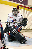 March 13, 2009:  Goalie Mike Brodeur (29) of the Rochester Amerks, AHL affiliate of the Florida Panthers, in the first period during a game at the Blue Cross Arena in Rochester, NY.  Toronto defeated Rochester 4-2.  Photo copyright Mike Janes Photography 2009