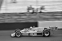 HAMPTON, GA - APRIL 22: Al Unser drives his Lola T500/Cosworth TC during the Gould Twin Dixie 125 event on April 22, 1979, at Atlanta International Raceway near Hampton, Georgia.