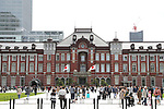People walk in front of Tokyo Station, Tokyo, Japan on May 1, 2019, the first day of the Reiwa Era. (Photo by Yohei Osada/AFLO)