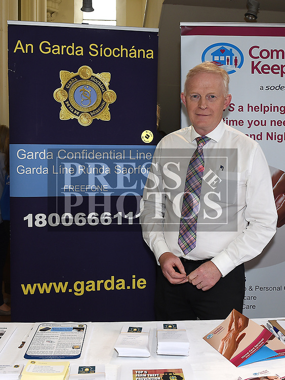 Sergeant Vincent Jackson from An Garda Síochána  at the Bank of Ireland Expo held in the old church Ardee. Photo:Colin Bell/pressphotos.ie