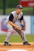 Third baseman Jeff Hehr (32) of the Lake County Captains on defense versus the Kannapolis Intimidators at Fieldcrest Cannon Stadium in Kannapolis, NC, Saturday, April 26, 2008.