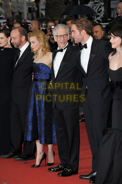 Paul Giamatti, Sarah Gadon, David Cronenberg, Robert Pattinson, Juliet Binoche.'Cosmopolis' screening at the 65th  Cannes Film Festival, France..25th May 2012.full length blue strapless dress black tuxedo profile .CAP/PL.©Phil Loftus/Capital Pictures