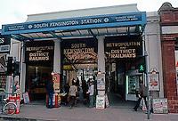 London: South Kensington Underground Station Entrance.  Photo '79.