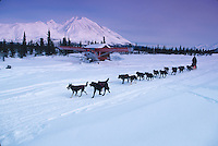 J Riley Passes Plane Near Puntilla Lake 2000 Iditarod AK Rainy Pass Area