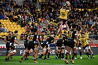 Hurricanes&rsquo; Kane Le&rsquo;aupepe in action during the Super Rugby - Hurricanes v Chiefs at Westpac Stadium, Wellington, New Zealand on Saturday  27 April 2019. <br /> Photo by Masanori Udagawa. <br /> www.photowellington.photoshelter.com