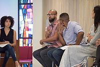 "Performing Racial Justice - panel discussion and Q&A with innovative Los Angeles-based arts professionals whose work is actively rooted in identity and racial justice, October 18, 2016 in Lower Herrick, sponsored by Oxy Arts.<br /> How can our creative practice actively impact the fabric of society? Why is art integral to every social justice movement? Performing Racial Justice brings together six LA-based arts professionals whose work is actively rooted in racial justice to discuss their practices, and to participate in a moderated panel about creating performance-based work with social impact. The panel was part discussion and part performance, including dynamic LA artists such Aleshea Harris (""What To Send Up When It Goes Down""), Douglas Kearney (The Black Automaton), Bruce Lemon, Jr. (Watts Village Theatre Company), Maya Jupiter (Artivist Entertainment), Traci Kato-Kiriyama (Tuesday Nights at the Café), and Oxy Alum Faith Santilla (""Beats, Rhymes and Resistance"").<br /> (Photo by Marc Campos, Occidental College Photographer)"