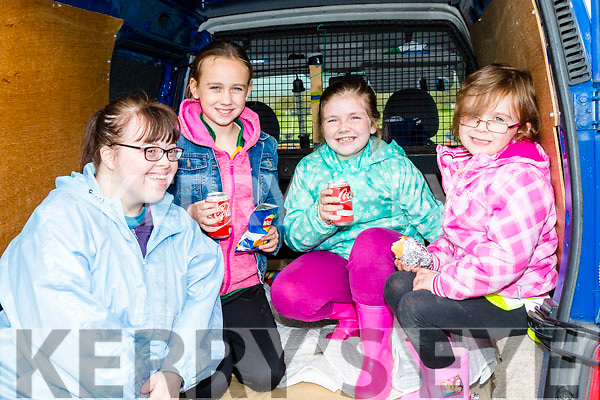 Enjoying the Castleisland Coursing Meeting in Cahill Park, Castleisland on Monday were Mary Nelligan, Shauna O Riordan, Kate O' Neill and Sorcha O Riordan