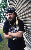 Pantera, , Vinnie Paul, Drum, Producer Backstazge Portrait Session at the Monsters of Rock Festival , at the Castle Donington Racetrack in Leicestershire, England.