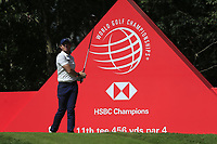 Rory McIlroy (NIR) on the 11th tee during round 1 at the WGC HSBC Champions, Sheshan Golf Club, Shanghai, China. 31/10/2019.<br /> Picture Fran Caffrey / Golffile.ie<br /> <br /> All photo usage must carry mandatory copyright credit (© Golffile | Fran Caffrey)
