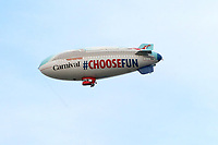 LOS ANGELES - DEC 10:  Carnival Blimp at the Carnival Panorama Press Day at Long Beach Carnival Cruise Terminal on December 10, 2019 in Long Beach, CA