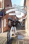 Hughenden Yard shopping alleyway, Marlborough, Wiltshire, England, UK